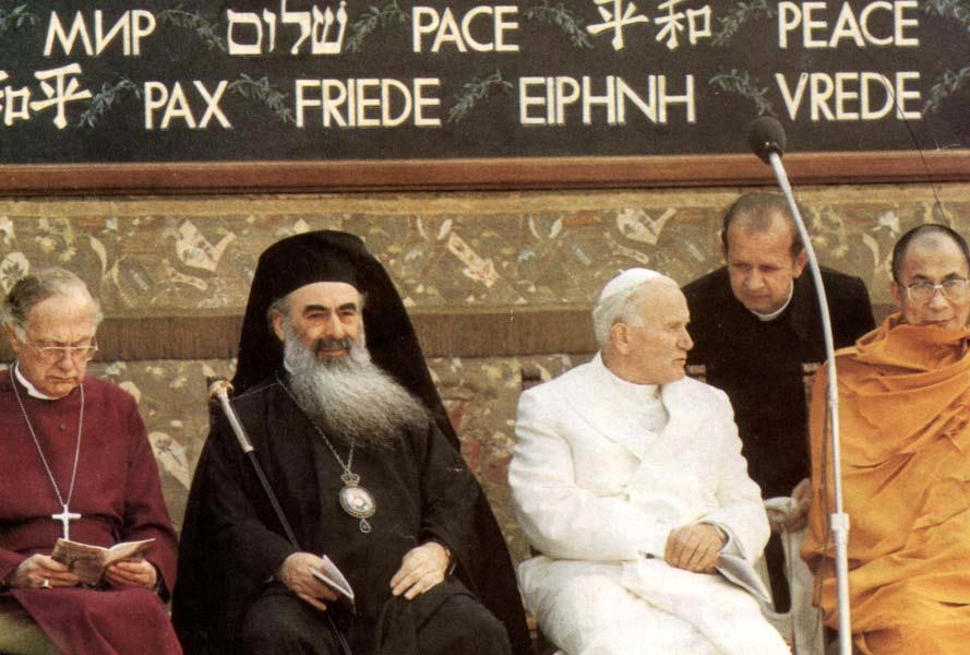 Juan Pablo II con falsos lideres religiosos.