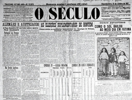 O Seculo - Lisboa Fátima - Milagro del Sol
